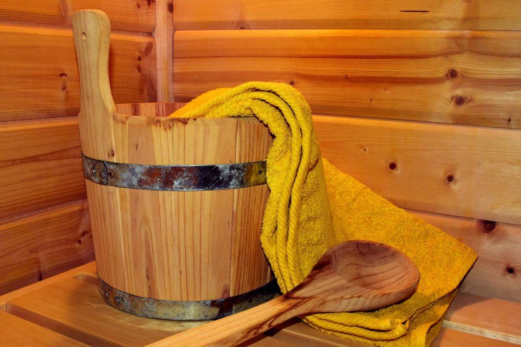 Sauna für die Entwässerung